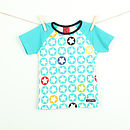 Children's Starprint t shirt - pool blue