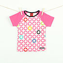 Children's Starprint t shirt - raspberry pink
