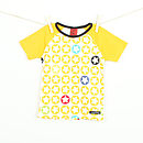 Children's Starprint t shirt - yellow