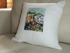 Coastal Cushion Cover - patterned cushions
