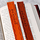 Scalloped Personalised Leather Bookmarks