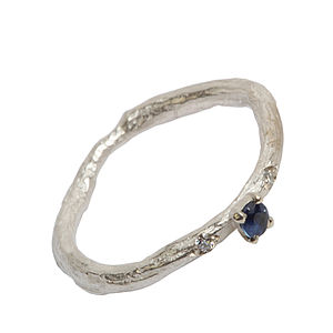 Silver Sapphire And Diamond Ring - women's jewellery