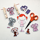Clara Paper Doll Bedtime Outfits