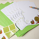 Set Of Six Squared Snail Notecards