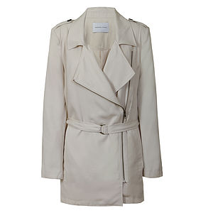 Tomma Beige Zipped Jacket - jackets & coats