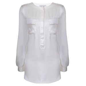 Wonno Cream Silk Shirt - blouses & shirts
