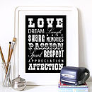 Love Words Poster Or Canvas
