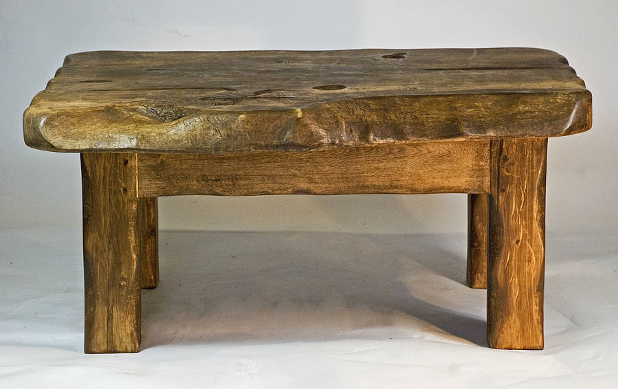 Rustic handmade small wooden coffee table by kwetu for Small wood coffee table