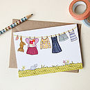 Illustrated Washing Line Card