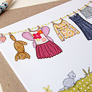 Little Girl's Clothes Card