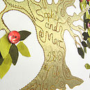 Personalised Fruit Tree Embroidered Artwork