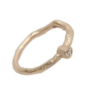 Diamond Solitaire Gold Ring - women's jewellery