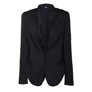 Woven Black Blazer