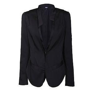 Woven Black Blazer - coats & jackets