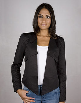 Lory Cropped Black Blazer