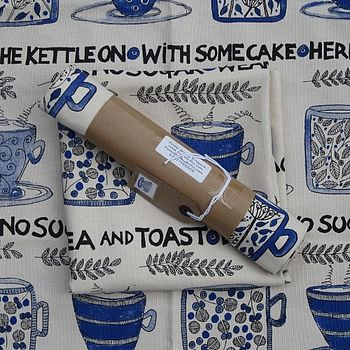 'Cups Of Tea' Tea Towel