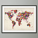 Butterflies Map Of The World Art Print