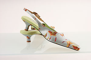 Butterfly Kitten Heel Wedding Shoes