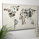 Music Instruments World Map Art Print