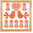 bright orange folk art