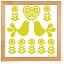 yellow zest folk art