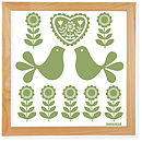 olive green folk art