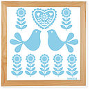 sky blue folk art