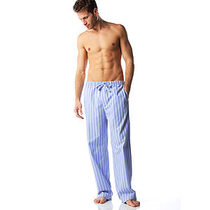 Men's Striped Pyjama Bottoms - men's fashion