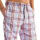 Men's Brushed Cotton Check PJ Trousers