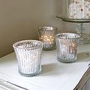 Fluted Glass Candleholder