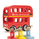 Wooden Number Sorting Bus