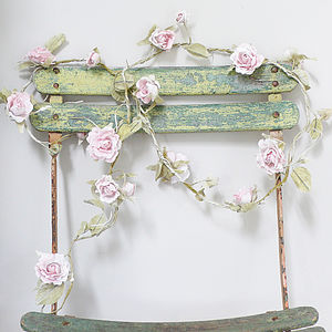 Paper Rose Flower Garland - room decorations