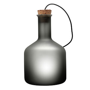 Labware Cylinder Table Floor Lamp Grey - lighting
