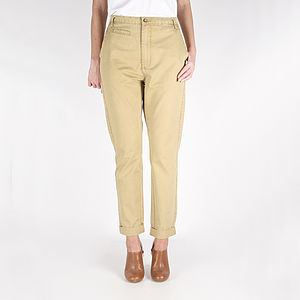 Malic Dark Straw Chinos - trousers & leggings