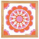 pink /orange retro flower