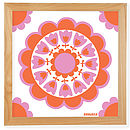 Retro Flower Art Giclée Print