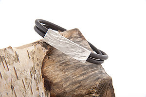 Dune Leather Bracelet - men's jewellery