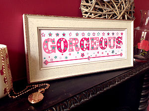 Vintage Style 'Gorgeous' Print - shop by price