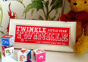 Twinkle Twinkle Little Star Print - canvas prints & art for children