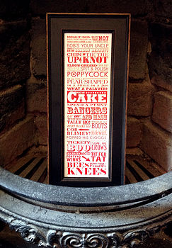 Vintage British Sayings Print