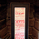 Vintage British Sayings Print