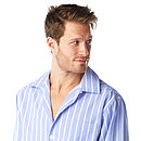 Men's Cotton Blue And White Stripe Pyjamas