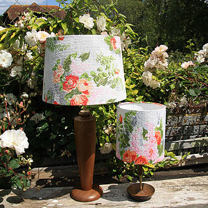 Austina Vintage Fabric Lampshade - lighting
