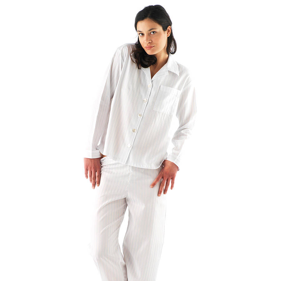 7a38401ebe classic striped egyptian cotton pyjamas by pj pan ...