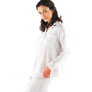 Classic Striped Egyptian Cotton Pyjamas - women's fashion
