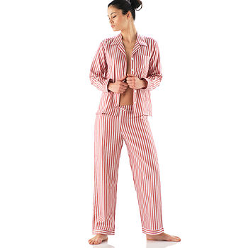 Classic Red Striped Egyptian Cotton Pyjamas