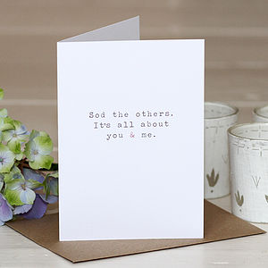 'You And Me' Greetings Card - blank cards