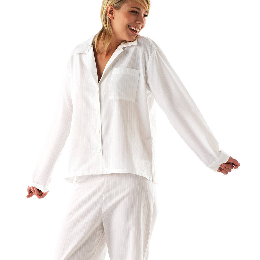 long & reg leg women's white cotton pjs by pj pan ...