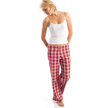Women's Brushed Cotton Tartan Pj Bottoms
