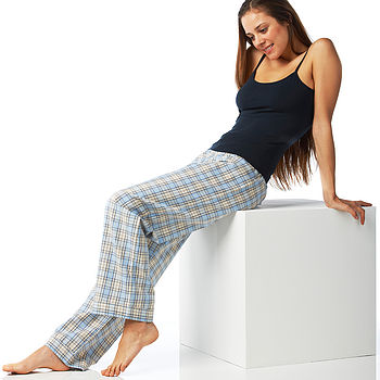 Women's Check Brushed Cotton Pyjama Bottoms